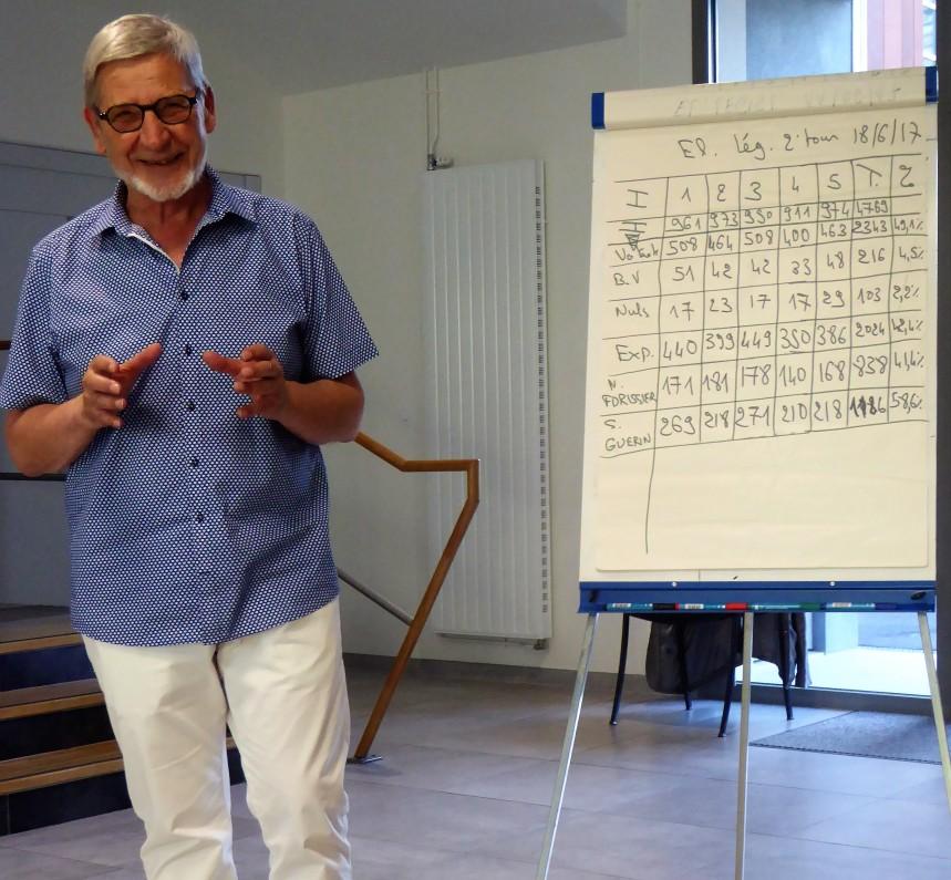Le maire proclame officiellement les résultats du Poinçonnet